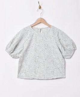 古着【2色展開】「Meridian」フラワー刺繍 バルーンスリーブ 半袖トップス グリーン 古着のネット通販 古着屋グレープフルーツムーン