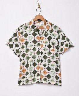 古着「Elcamino」総柄オープンカラー半袖シャツ 古着のネット通販 古着屋グレープフルーツムーン