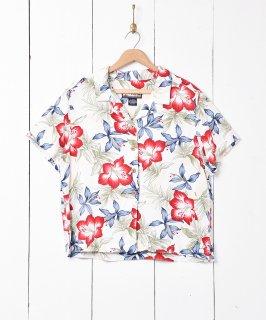 古着ハワイアンシャツ ホワイト 古着のネット通販 古着屋グレープフルーツムーン