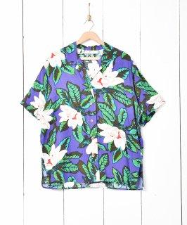古着ボタニカル柄 オープンカラー半袖シャツ 古着のネット通販 古着屋グレープフルーツムーン