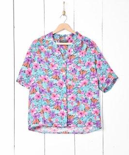 古着花柄オープンカラー半袖シャツ 古着のネット通販 古着屋グレープフルーツムーン