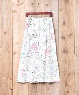 古着総柄 フロントボタン ロングスカート 古着のネット通販 古着屋グレープフルーツムーン