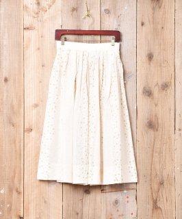 古着ドット柄 シルク フレアスカート 古着のネット通販 古着屋グレープフルーツムーン