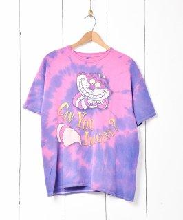 古着タイダイ チェシャ猫 プリントTシャツ 古着のネット通販 古着屋グレープフルーツムーン