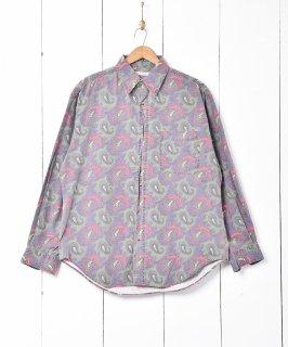 古着ペイズリー柄 長袖シャツ 古着のネット通販 古着屋グレープフルーツムーン