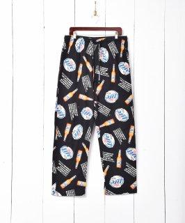 古着Miller Lite 総柄イージーパンツ 古着のネット通販 古着屋グレープフルーツムーン