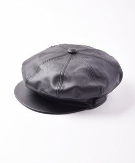 古着【2色展開】レザーキャスケット ブラック 古着のネット通販 古着屋グレープフルーツムーン