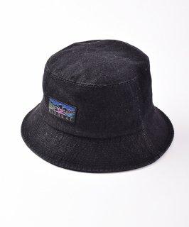 古着【2色展開】「BIVOUAC」デニムバケットハット ブラック 古着のネット通販 古着屋グレープフルーツムーン