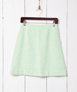 古着台形ミニスカート ライトグリーン 古着のネット通販 古着屋グレープフルーツムーン