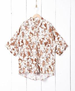古着総柄 オーバーサイズ 半袖シャツ 古着のネット通販 古着屋グレープフルーツムーン