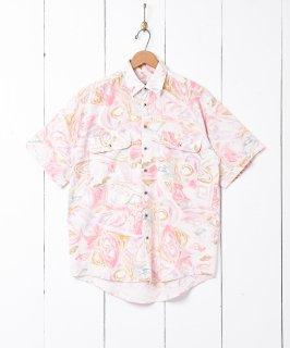 古着水彩風 総柄 半袖シャツ 古着のネット通販 古着屋グレープフルーツムーン