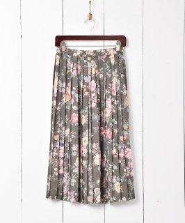 古着花柄 シアープリーツスカート 古着のネット通販 古着屋グレープフルーツムーン