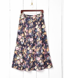 古着花柄ギャザースカート 古着のネット通販 古着屋グレープフルーツムーン