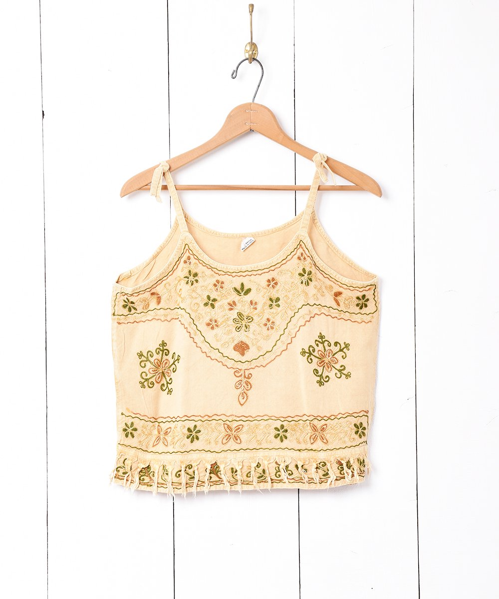 古着 インド製 刺繍キャミソール 古着 ネット 通販 古着屋グレープフルーツムーン