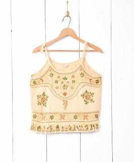 古着インド製 刺繍キャミソール 古着のネット通販 古着屋グレープフルーツムーン