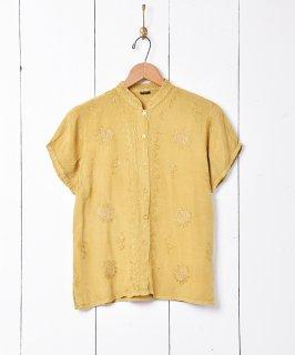 古着インド製 レーヨン刺繍トップス 古着のネット通販 古着屋グレープフルーツムーン