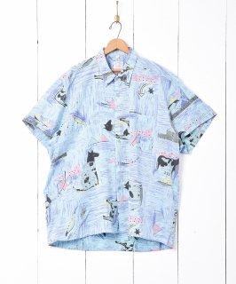 古着動物モチーフ 総柄 半袖シャツ 古着のネット通販 古着屋グレープフルーツムーン