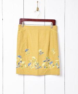 古着花刺繍 エプロン 古着のネット通販 古着屋グレープフルーツムーン