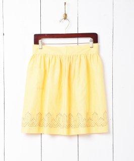 古着60's〜70's ヴィンテージ ピンドット 刺繍 エプロン 古着のネット通販 古着屋グレープフルーツムーン