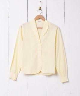 古着スカラップカラー長袖シャツ 古着のネット通販 古着屋グレープフルーツムーン