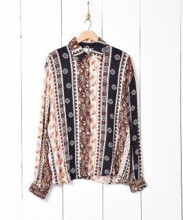 古着パターン切り替え 総柄シャツ 古着のネット通販 古着屋グレープフルーツムーン