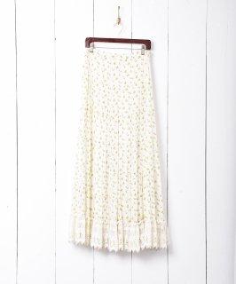 古着小花柄 マキシ丈ティアードスカート 古着のネット通販 古着屋グレープフルーツムーン