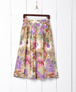 古着花柄シルクスカート 古着のネット通販 古着屋グレープフルーツムーン