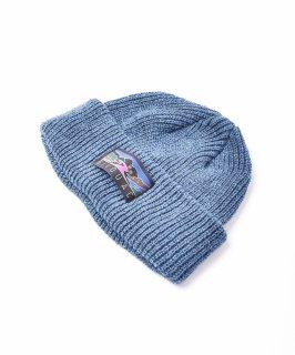 古着【4色展開】「BIVOUAC」コットンニットキャップ ブルー 古着のネット通販 古着屋グレープフルーツムーン