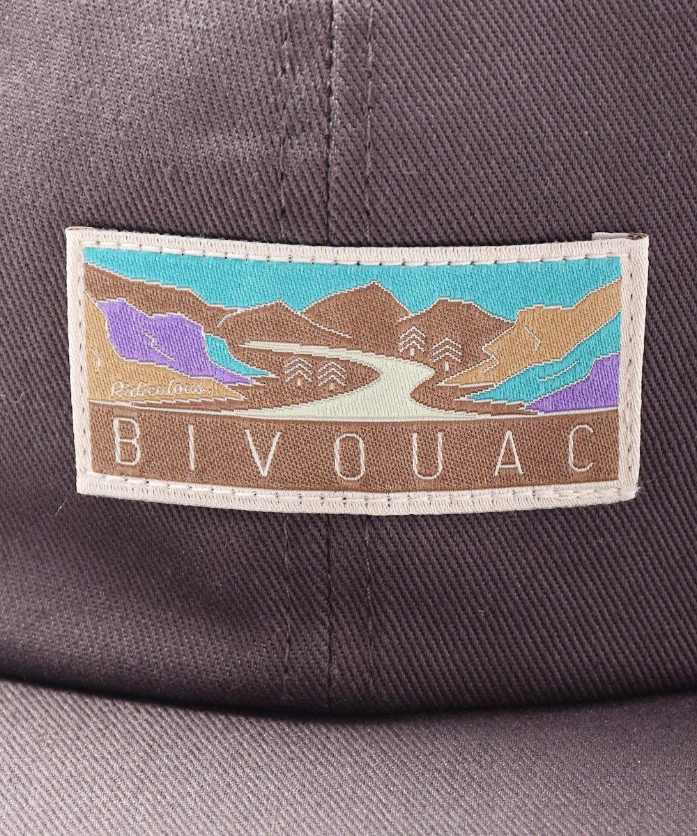 【3色展開】「BIVOUAC」ロゴ入り プレーンキャップ チャコールグレーサムネイル