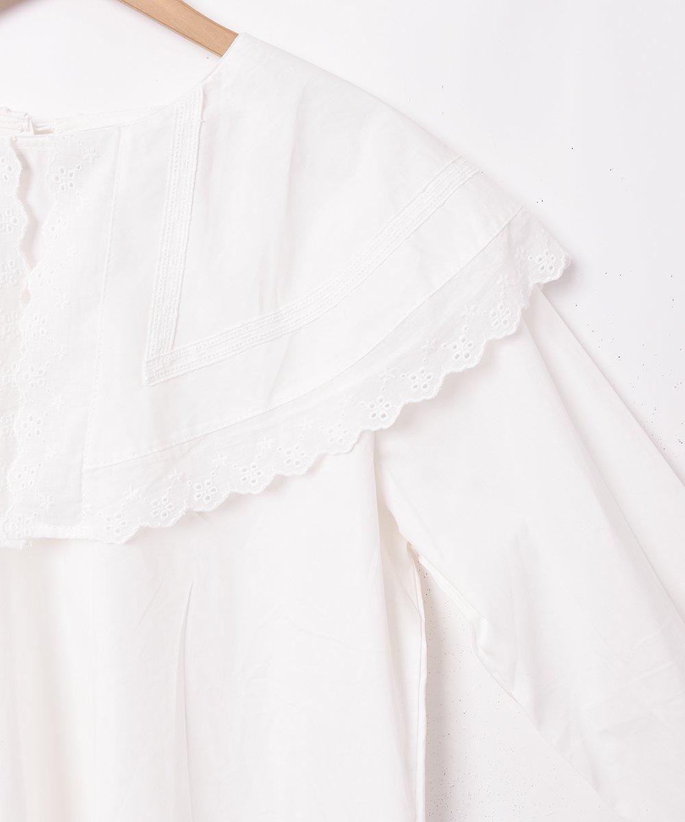 「Elcamino」ビッグカラー 長袖ブラウスサムネイル