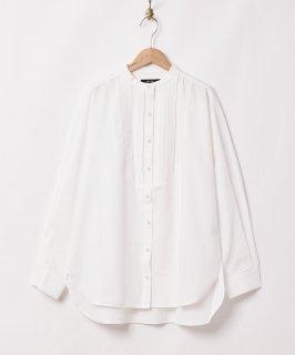古着【2色展開】「Meridian」ノーカラー フロントデザイン 長袖シャツ ホワイト 古着のネット通販 古着屋グレープフルーツムーン