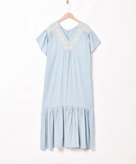 古着「Meridian」刺繍 半袖 ティアードワンピース 古着のネット通販 古着屋グレープフルーツムーン
