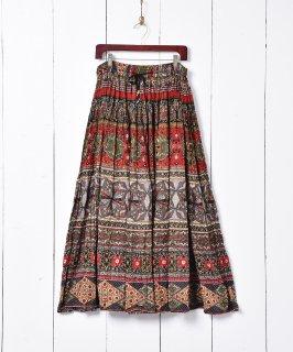 古着インド綿 総柄 スカート 古着のネット通販 古着屋グレープフルーツムーン