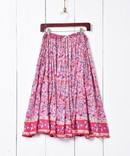 古着インド綿 花柄スカート 古着のネット通販 古着屋グレープフルーツムーン
