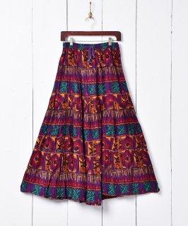 古着総柄 インド綿スカート 古着のネット通販 古着屋グレープフルーツムーン