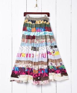 古着インド綿 パッチワーク スカート 古着のネット通販 古着屋グレープフルーツムーン