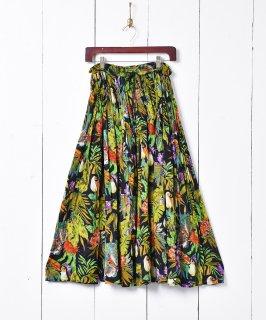 古着サファリパターン インド綿スカート 古着のネット通販 古着屋グレープフルーツムーン
