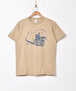 古着【2色展開】「Backers」バイクスター 両面プリントTシャツ ベージュ 古着のネット通販 古着屋グレープフルーツムーン