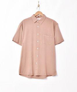 古着【3色展開】「TEMPTATION」プレーン 半袖シャツ ブラウン 古着のネット通販 古着屋グレープフルーツムーン