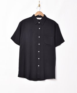 古着【3色展開】「TEMPTATION」プレーン 半袖シャツ  ブラック 古着のネット通販 古着屋グレープフルーツムーン