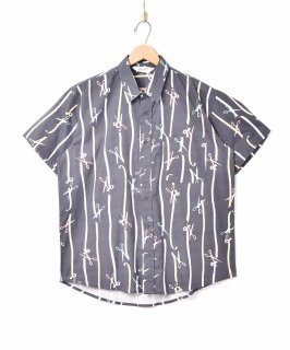 古着「Backers」メジャーパターン 半袖シャツ 古着のネット通販 古着屋グレープフルーツムーン