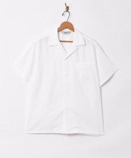 古着【3色展開】「Backers」ピーチスキン オープンカラー 半袖シャツ ホワイト 古着のネット通販 古着屋グレープフルーツムーン