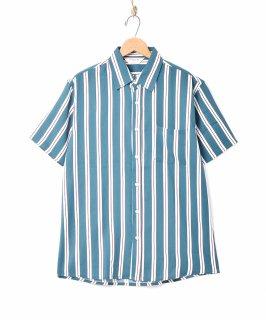 古着「TEMPTATION」ストライプ柄 半袖シャツ 古着のネット通販 古着屋グレープフルーツムーン