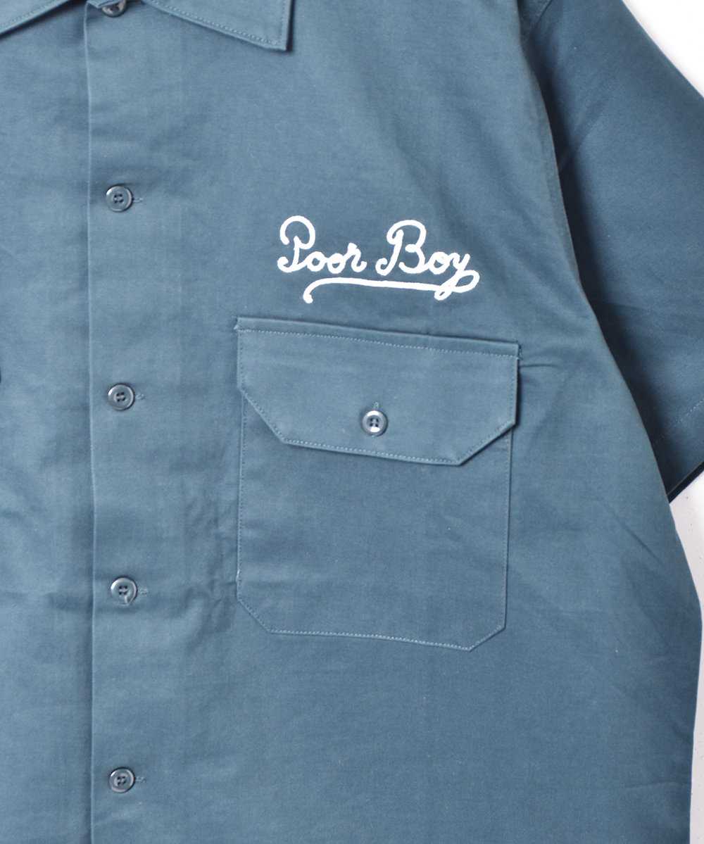 【3色展開】「Backers」刺繍 半袖 ワークシャツ グリーンサムネイル