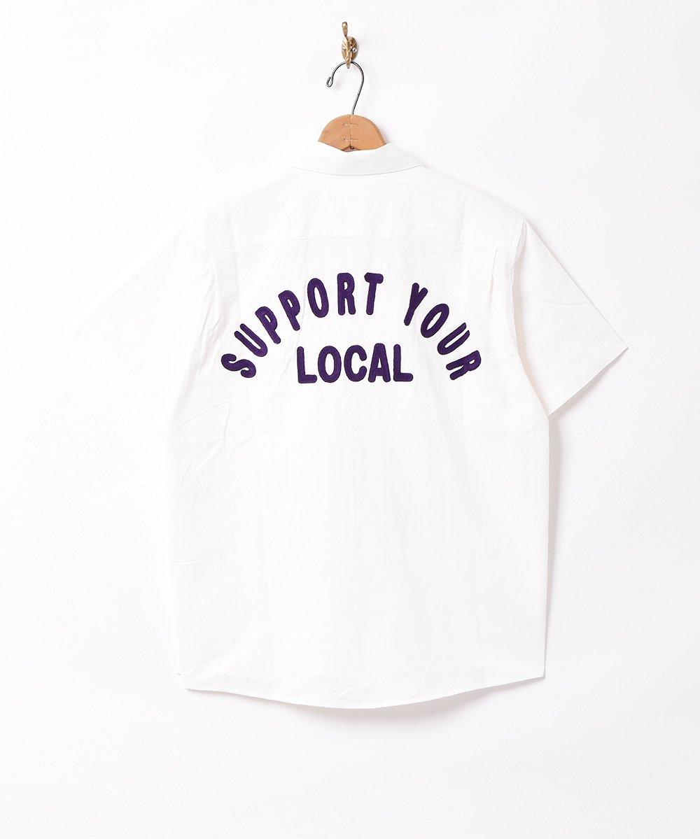 【3色展開】「Backers」刺繍 半袖 ワークシャツ ベージュサムネイル