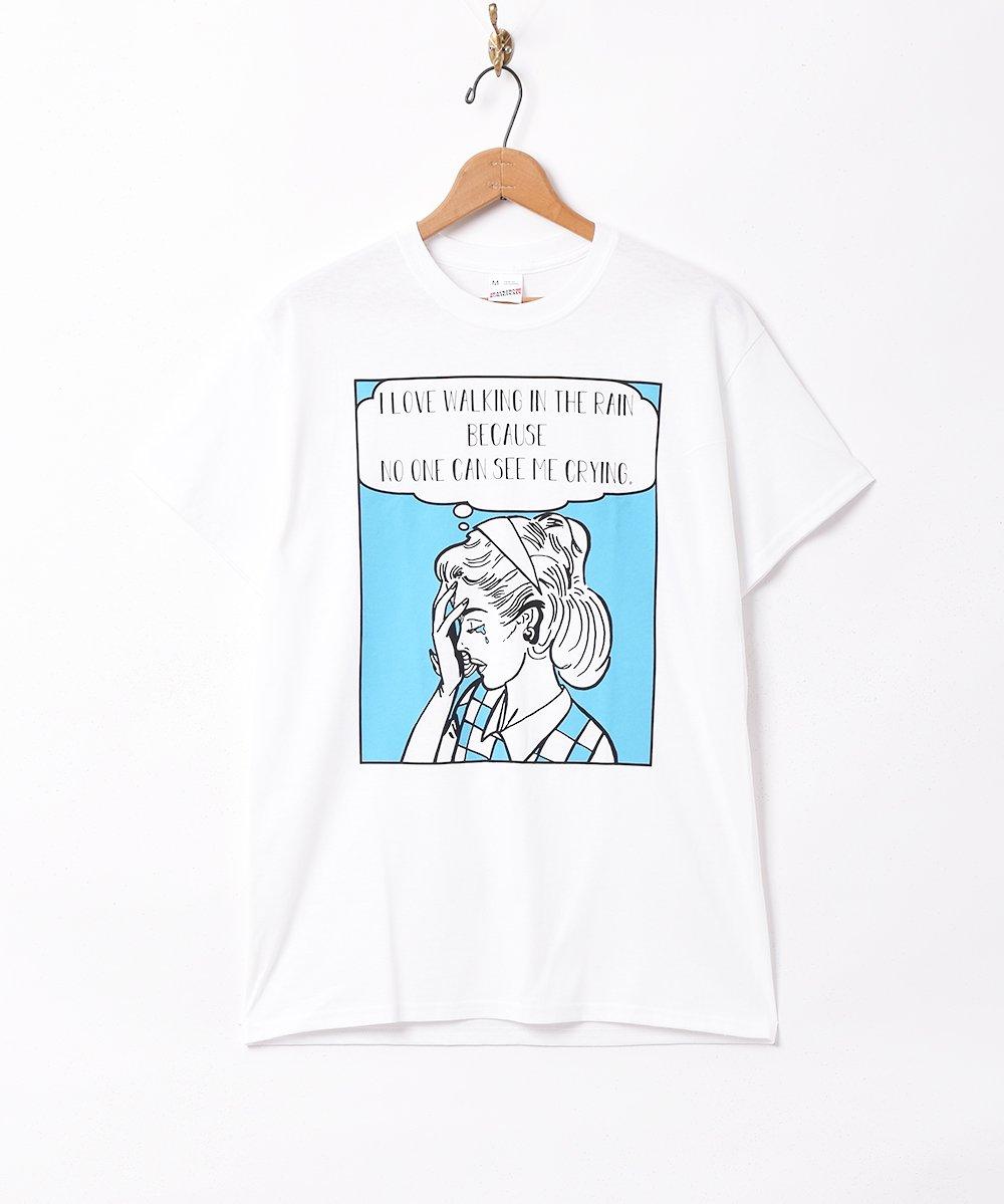 古着 「Backers」ガールクライ プリントTシャツ 古着 ネット 通販 古着屋グレープフルーツムーン