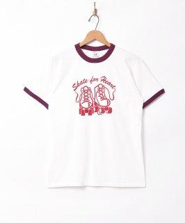 古着プリント リンガーTシャツ ローラースケート 古着のネット通販 古着屋グレープフルーツムーン