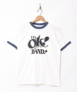 古着【2色展開】メッセージプリント リンガーTシャツ ホワイト 古着のネット通販 古着屋グレープフルーツムーン