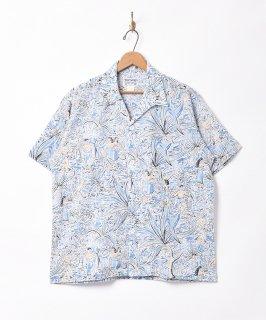古着「TEMPTATION」ヤシの木 総柄 オープンカラー 半袖シャツ 古着のネット通販 古着屋グレープフルーツムーン