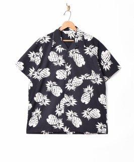 古着「Backers」パイナップルパターン オープンカラー 半袖シャツ 古着のネット通販 古着屋グレープフルーツムーン